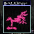 Wiley Coyote Pointing Decal Sticker Hot Pink Vinyl 120x120