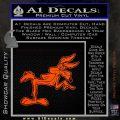 Wiley Coyote Pointing Decal Sticker Orange Vinyl Emblem 120x120