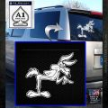 Wiley Coyote Pointing Decal Sticker White Emblem 120x120
