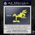 Wiley Coyote Pointing Decal Sticker Yelllow Vinyl 120x120