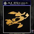 Wiley Coyote Sprint Decal Sticker Metallic Gold Vinyl Vinyl 120x120