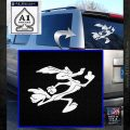 Wiley Coyote Sprint Decal Sticker White Emblem 120x120