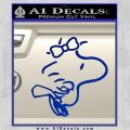 Woodstock Flying Bow Decal Sticker Blue Vinyl 120x120
