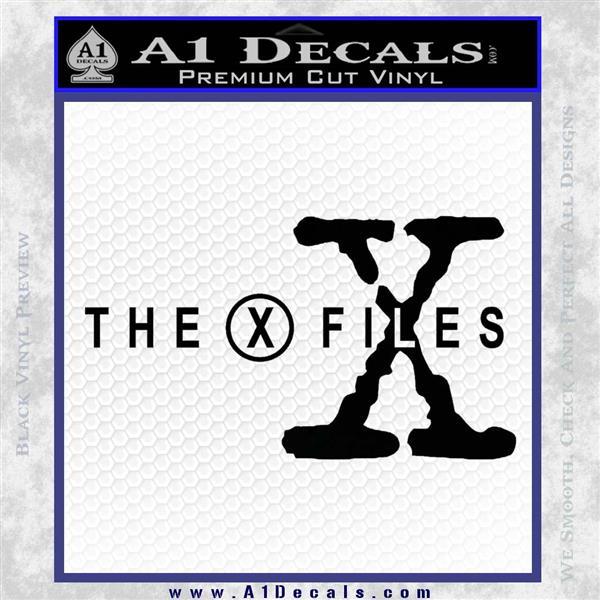X Files Logo RDZ Decal Sticker Black Logo Emblem