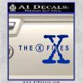 X Files Logo RDZ Decal Sticker Blue Vinyl 120x120