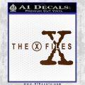 X Files Logo RDZ Decal Sticker Brown Vinyl 120x120