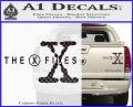 X Files Logo RDZ Decal Sticker Carbon Fiber Black 120x97