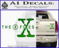 X Files Logo RDZ Decal Sticker Green Vinyl 120x97