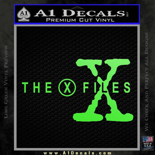 The X Files Title Logo Decal Sticker 187 A1 Decals