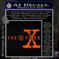 X Files Logo RDZ Decal Sticker Orange Vinyl Emblem 120x120