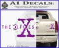 X Files Logo RDZ Decal Sticker Purple Vinyl 120x97