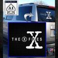 X Files Logo RDZ Decal Sticker White Emblem 120x120