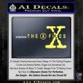 X Files Logo RDZ Decal Sticker Yelllow Vinyl 120x120