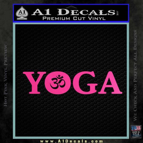 Yoga Om Decal Sticker Hot Pink Vinyl