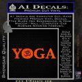 Yoga Om Decal Sticker Orange Vinyl Emblem 120x120