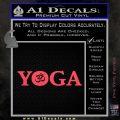 Yoga Om Decal Sticker Pink Vinyl Emblem 120x120