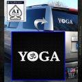 Yoga Om Decal Sticker White Emblem 120x120