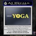 Yoga Om Decal Sticker Yelllow Vinyl 120x120