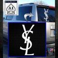 Yves Saint Laurent Logo Decal Sticker White Emblem 120x120