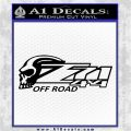 Z 71 Skull Decal Sticker Black Logo Emblem 120x120