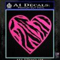 Zebra Heart Decal Sticker D2 Hot Pink Vinyl 120x120