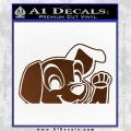 101 Dalmations Pup Decal Sticker Brown Vinyl 120x120