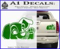 101 Dalmations Pup Decal Sticker Green Vinyl 120x97