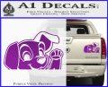 101 Dalmations Pup Decal Sticker Purple Vinyl 120x97