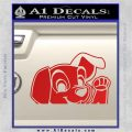 101 Dalmations Pup Decal Sticker Red Vinyl 120x120