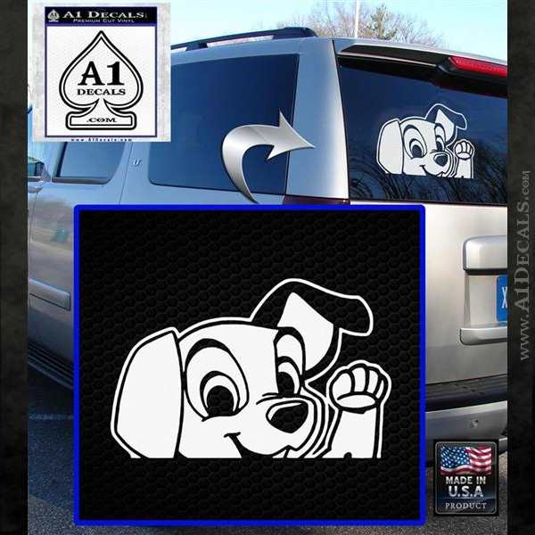101 Dalmations Pup Decal Sticker White Emblem