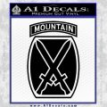 10th Mountain Division Decal Sticker Black Vinyl 120x120