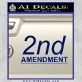 2nd amendment gun control Decal Sticker Blue Vinyl 120x120