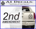 2nd amendment gun control Decal Sticker Carbon FIber Black Vinyl 120x97