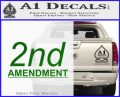 2nd amendment gun control Decal Sticker Green Vinyl Logo 120x97