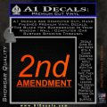 2nd amendment gun control Decal Sticker Orange Emblem 120x120