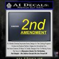 2nd amendment gun control Decal Sticker Yellow Laptop 120x120