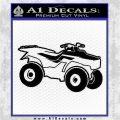 ATV Outline Decal Sticker Black Logo Emblem 120x120