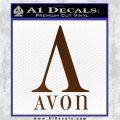 AVON Logo RDZ Decal Sticker Brown Vinyl 120x120
