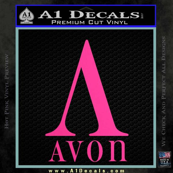 AVON Logo RDZ Decal Sticker Hot Pink Vinyl