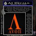 AVON Logo RDZ Decal Sticker Orange Vinyl Emblem 120x120