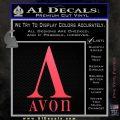 AVON Logo RDZ Decal Sticker Pink Vinyl Emblem 120x120