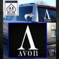 AVON Logo RDZ Decal Sticker White Emblem 120x120