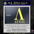 AVON Logo RDZ Decal Sticker Yelllow Vinyl 120x120