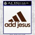 Adidas Add Jesus Decal Sticker BROWN Vinyl 120x120