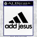 Adidas Add Jesus Decal Sticker Black Vinyl 120x120