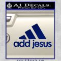 Adidas Add Jesus Decal Sticker Blue Vinyl 120x120
