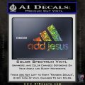 Adidas Add Jesus Decal Sticker Glitter Sparkle 120x120