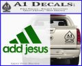 Adidas Add Jesus Decal Sticker Green Vinyl Logo 120x97