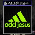 Adidas Add Jesus Decal Sticker Lime Green Vinyl 120x120