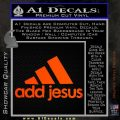 Adidas Add Jesus Decal Sticker Orange Emblem 120x120